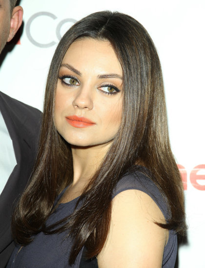 It's Likely Mila Kunis Gave Birth Wearing Her Signature Eyeliner Look