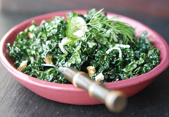 Pine Nut and Feta Kale Salad