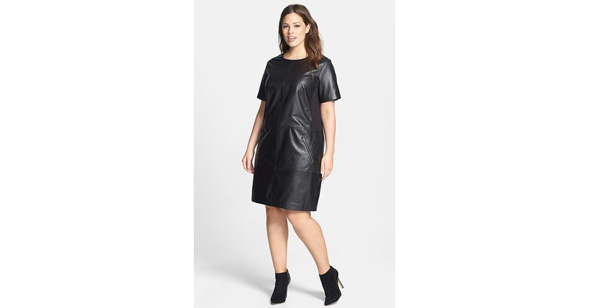 plus leather dress plus
