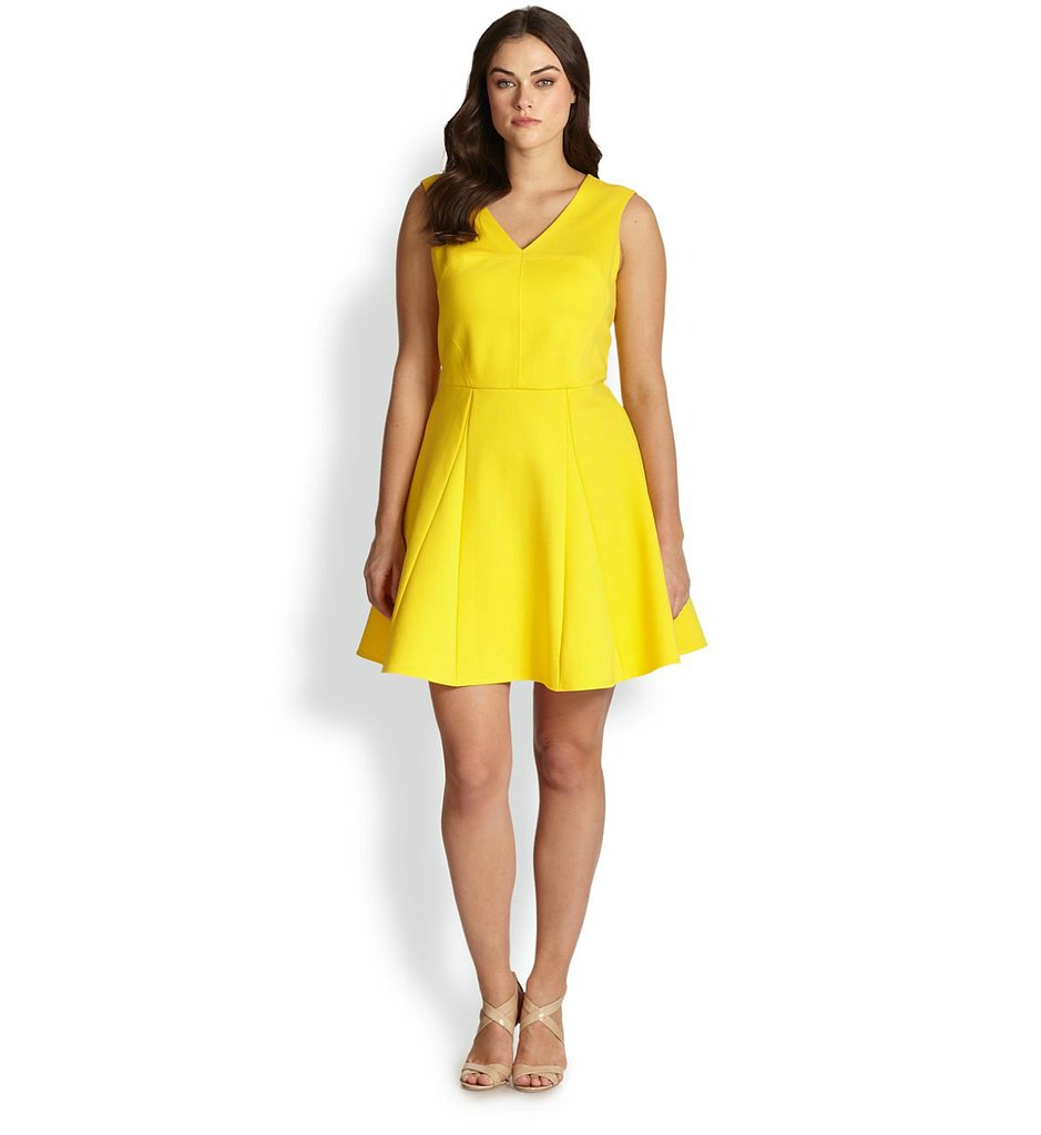 ABS Plus-Size Fit-and-Flare Dress