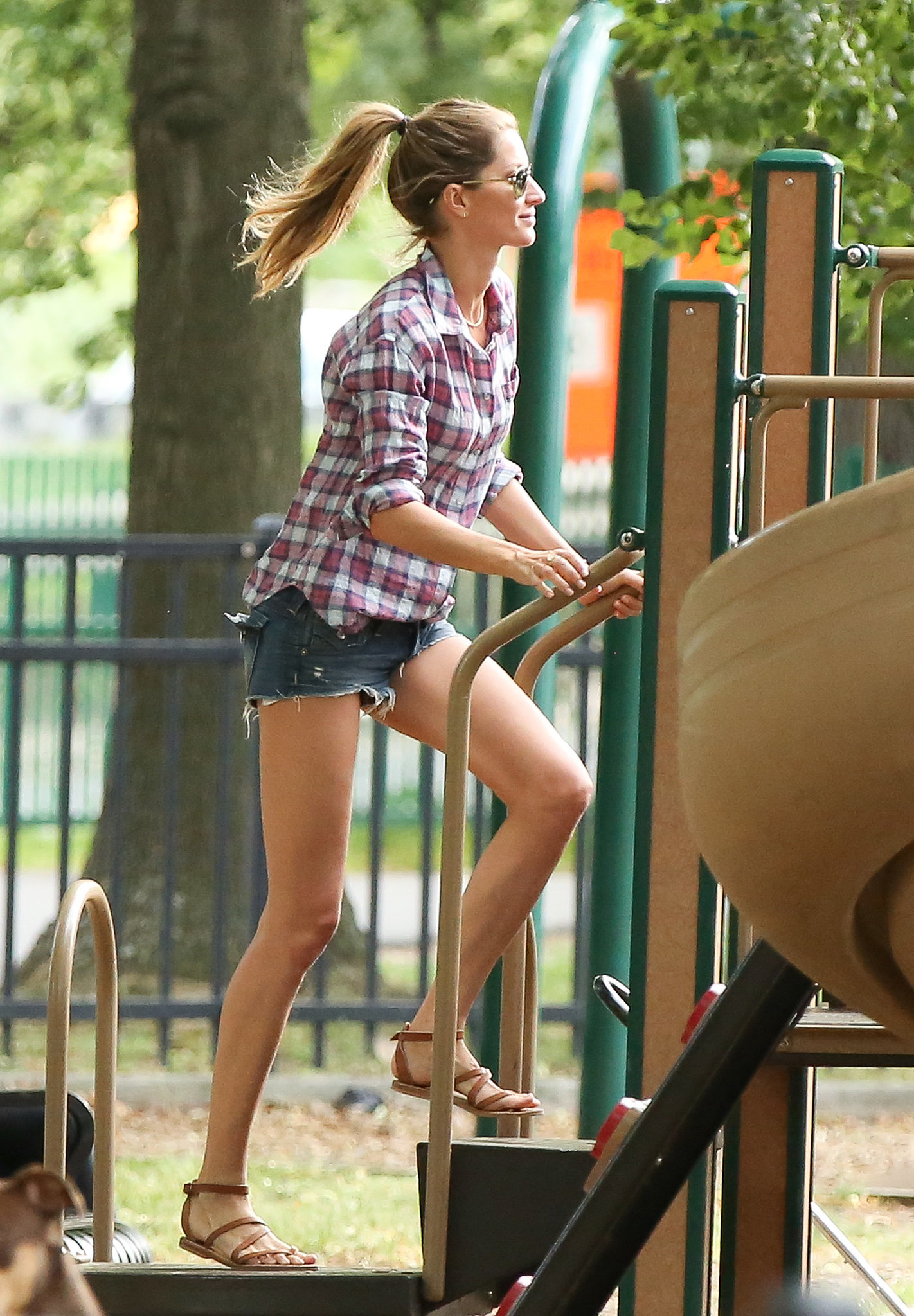 And she owns the playground, too.