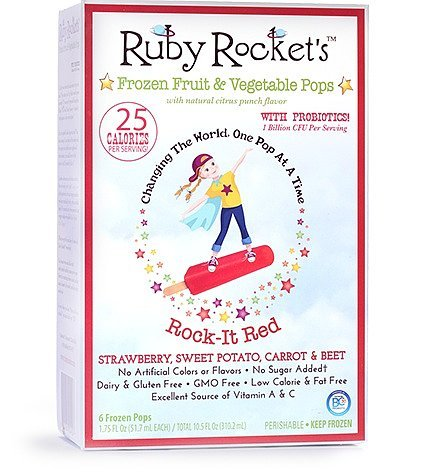 Ruby Rocket's Frozen Fruit and Vegetable Pops