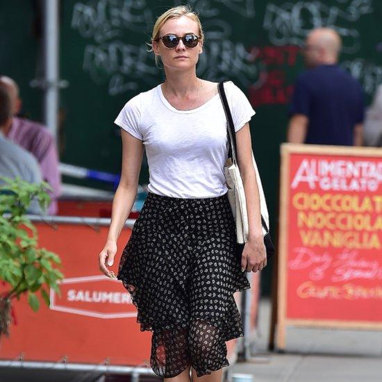 Diane Kruger's Skirt Street Style