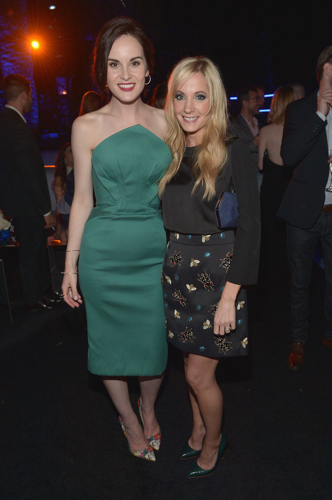 Michelle Dockery also met up with her Downton Abbey costar, Joanne Froggatt on Thursday.