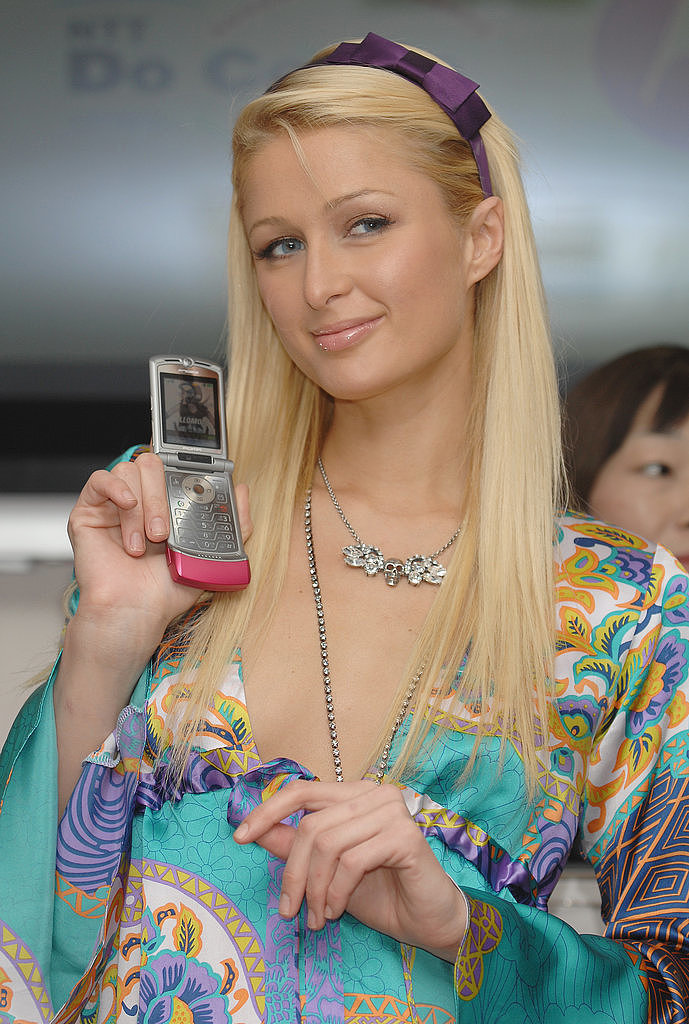 Paris Hilton + pink MotoRAZR + 2006 = your youth.