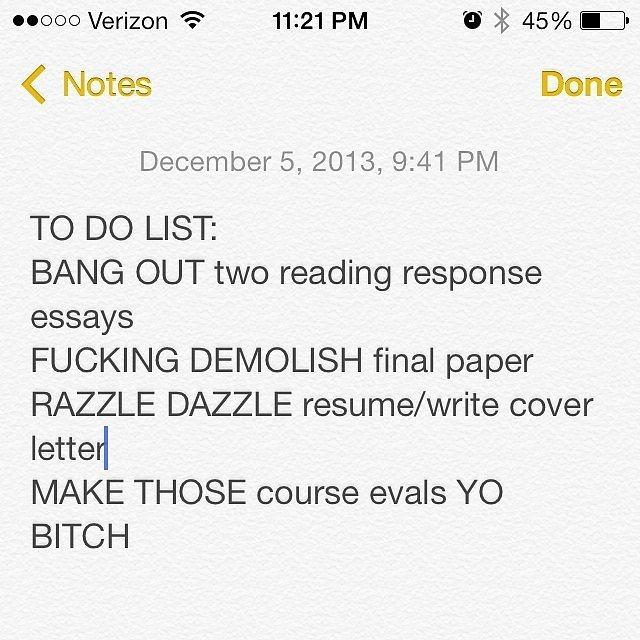 Write motivational to-do lists.