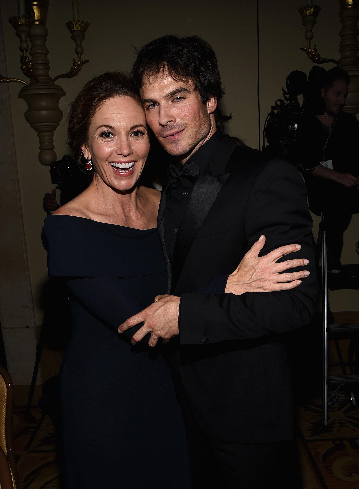 Ian Somerholder smoldered while Diane Lane smiled at Heifer International's Beyond Hunger gala in Beverly Hills on Friday.