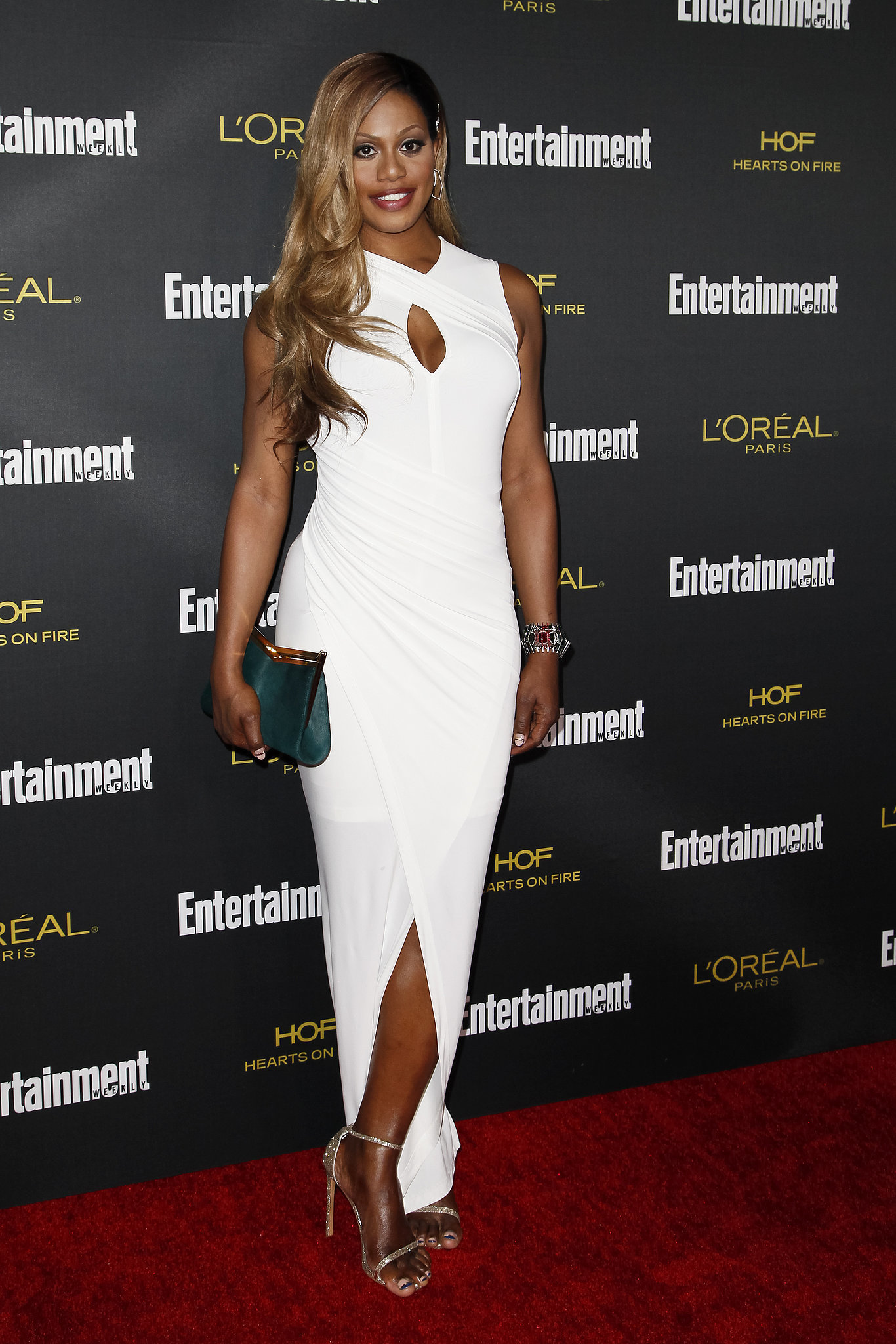 Laverne later changed into white for Entertainment Weekly's bash.