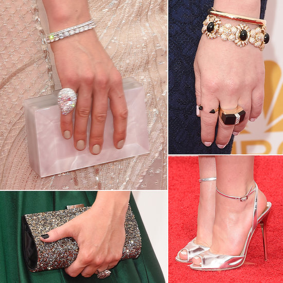2014 Emmy Awards Red Carpet Bags, Shoes and Jewellery