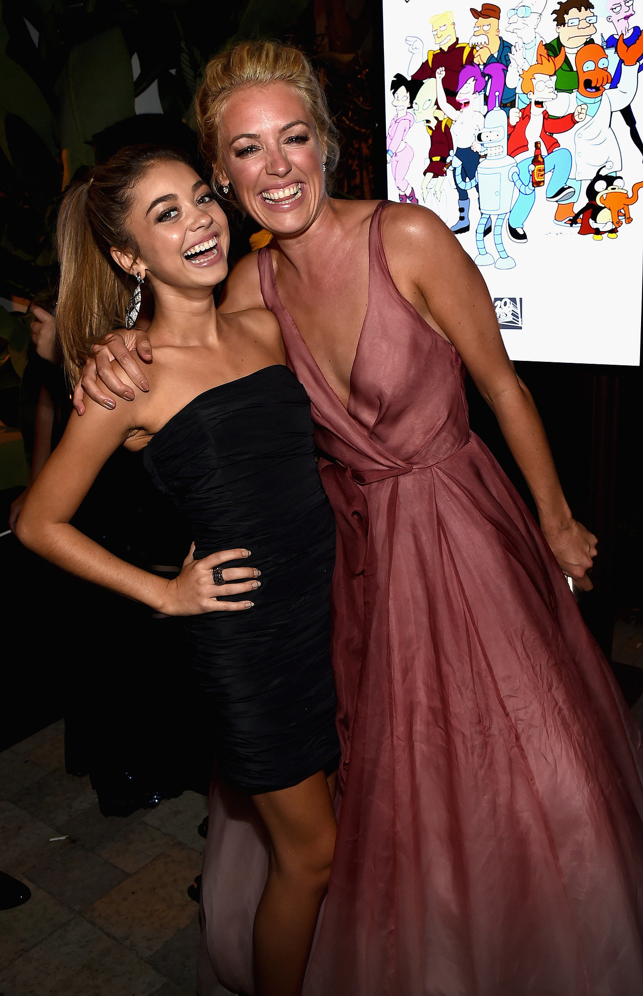 At the Fox/FX party, Sarah Hyland met up with Cat Deeley.