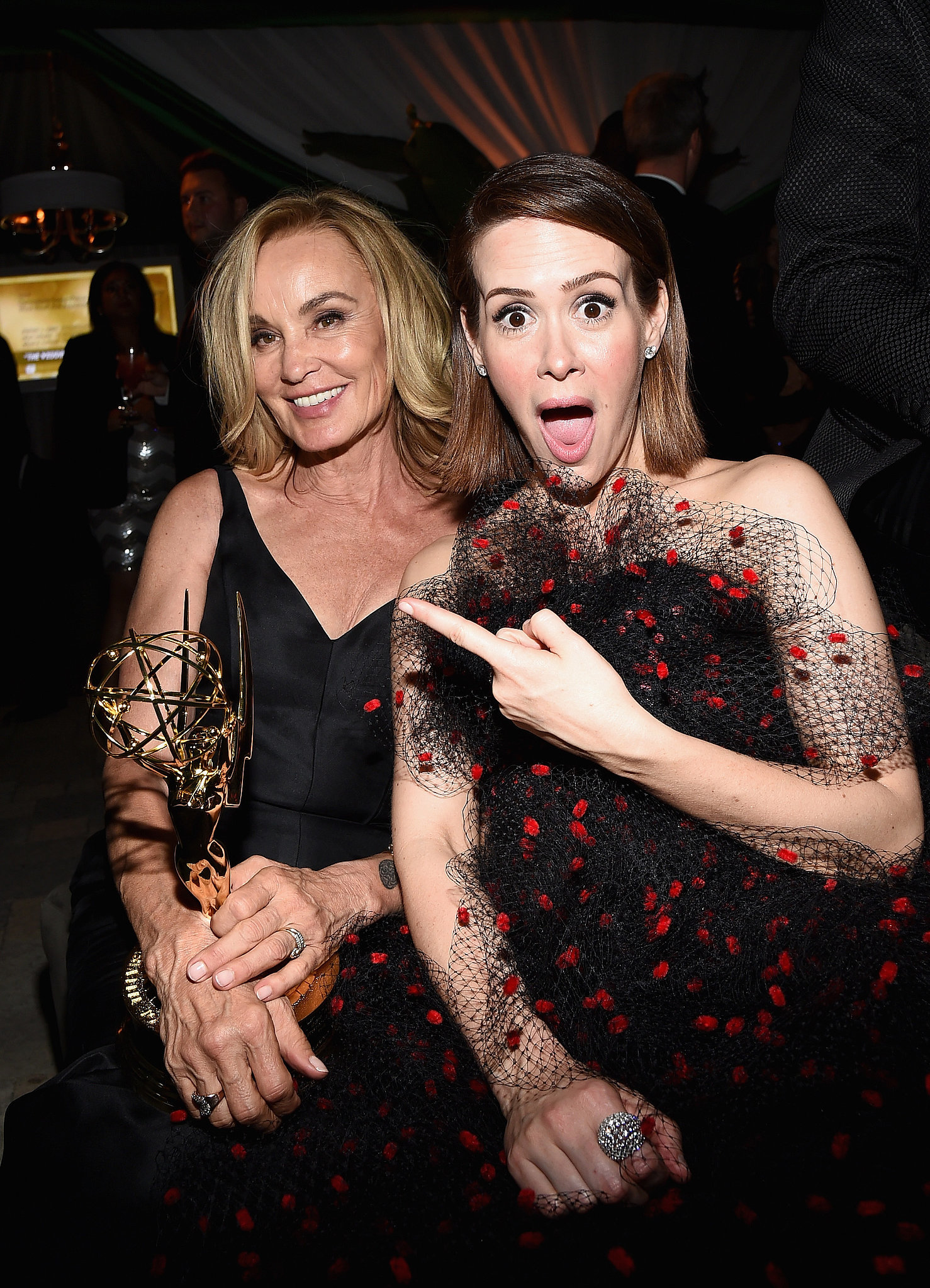 Photo of Jessica Lange & her friend actress  Sarah Paulson - Los Angeles