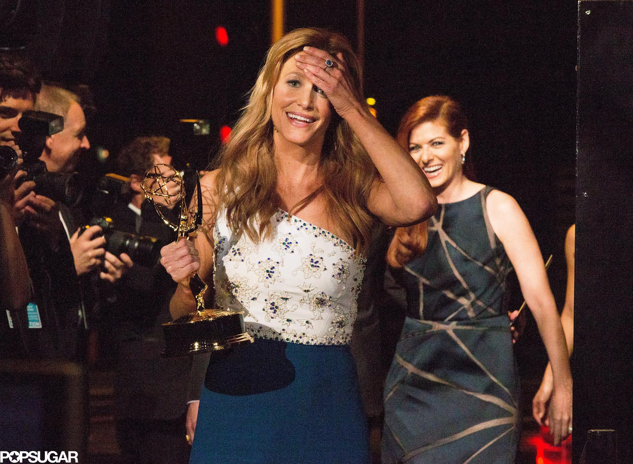 Anna Gunn was overwhelmed backstage.