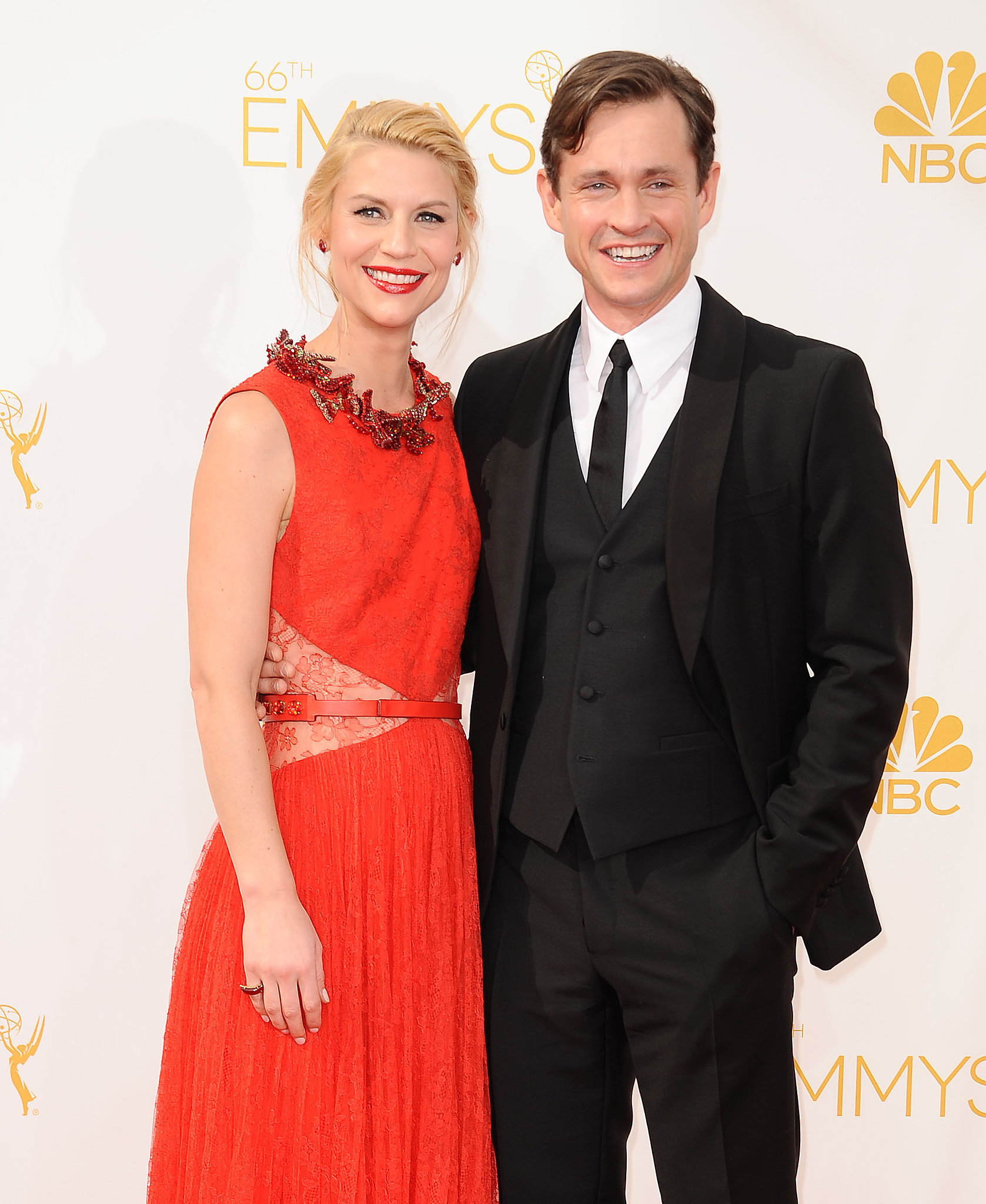 Claire Danes and Hugh Dancy had their red carpet pose perfected.