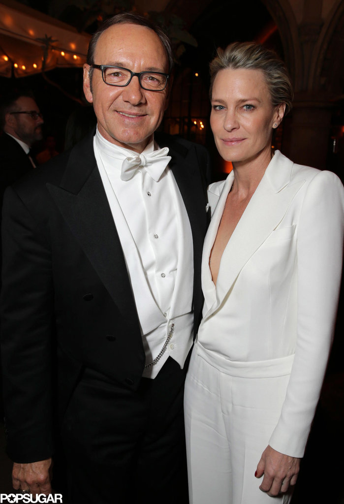 House of Cards' Kevin Spacey and Robin Wright met up.
