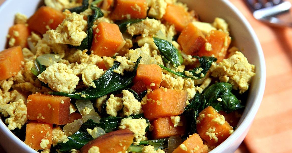 Vegan Breakfast Recipes: Tofu, Kale, Sweet Potato Scramble ...