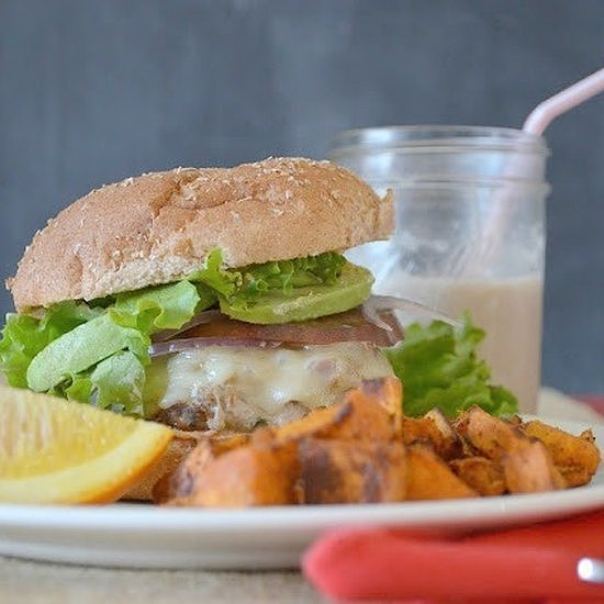 Fresh Herb-Filled Turkey Burger
