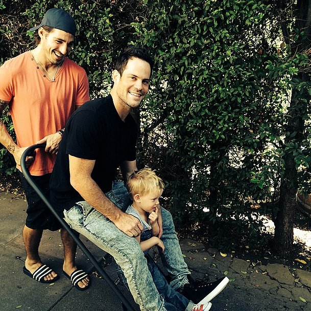 Mike and Luca Comrie got an unusual lift from a friend.