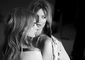 Kate Moss and Cara Delevingne Behind-the-Scenes For Burberry