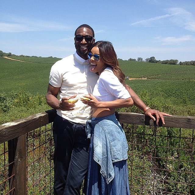 Dwyane and Gabrielle did some wine tasting together in August 2014.