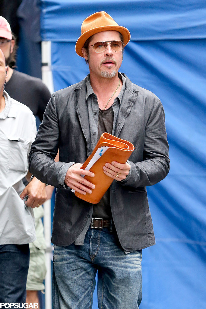 What Honeymoon? Brad Pitt Is Back to Business in NYC