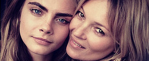 Kate Moss and Cara Delevingne Behind the Scenes for Burberry