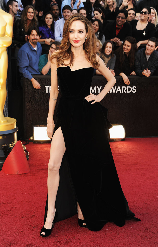 Angelina Jolie at the 2012 Oscars