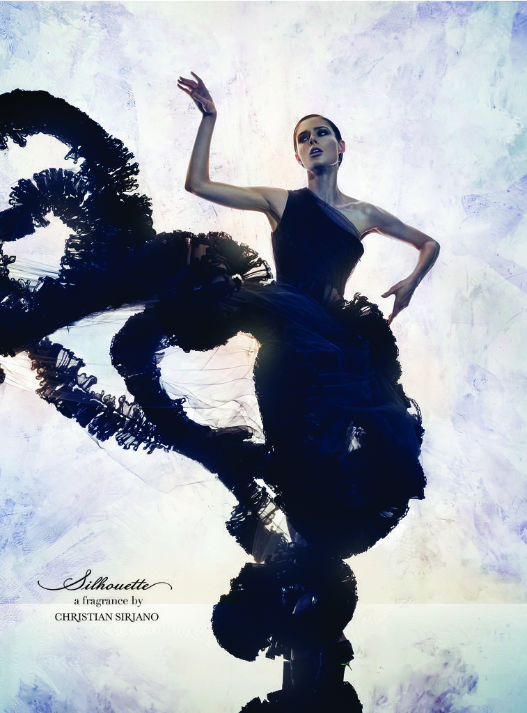 Coco Rocha in the Christian Siriano Silhouette Fragrance Campaign