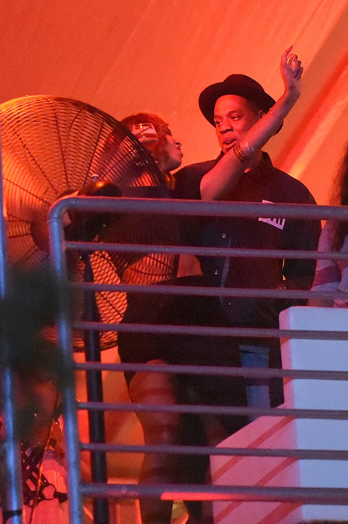 Beyoncé got loose with Jay Z while hanging out at the Made in America Festival in LA in September 2013.