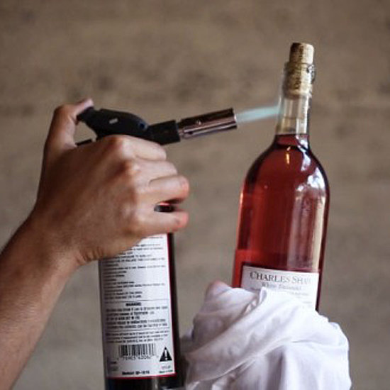 How to Open a Bottle of Wine With a Blowtorch