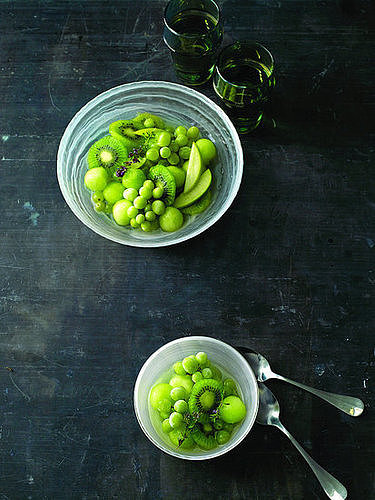 Martha Stewart's Green Fruit Bowl With Frozen Grapes