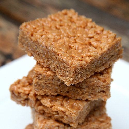Peanut Butter Protein Rice Krispies Treats