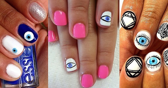 13 evil eye manicures you won 39 t be able to look away from popsugar beauty uk. Black Bedroom Furniture Sets. Home Design Ideas