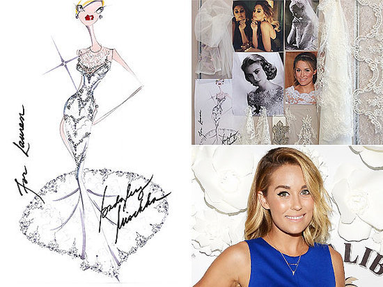 Lauren Conrad's Wedding Gown: See the Gorgeous Sketch and Inspiration Board!