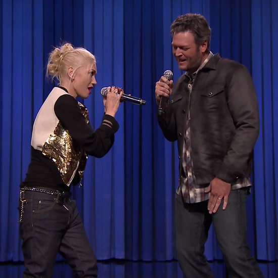 Gwen Stefani and Blake Shelton Lip Syncing