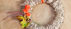 Recycle Paper Bags Into a Pretty Fall Wreath