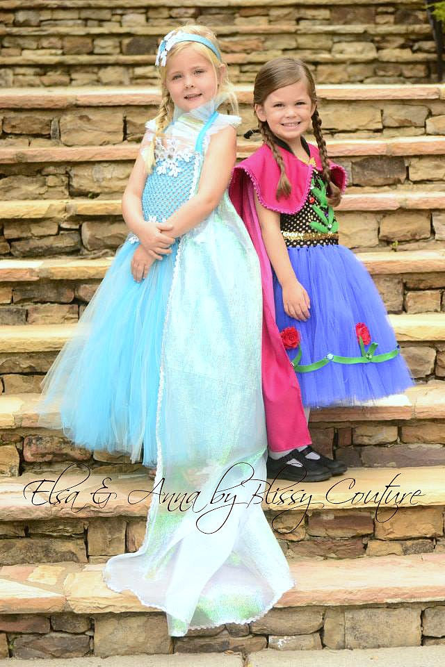 Elsa and Anna Frozen Costumes