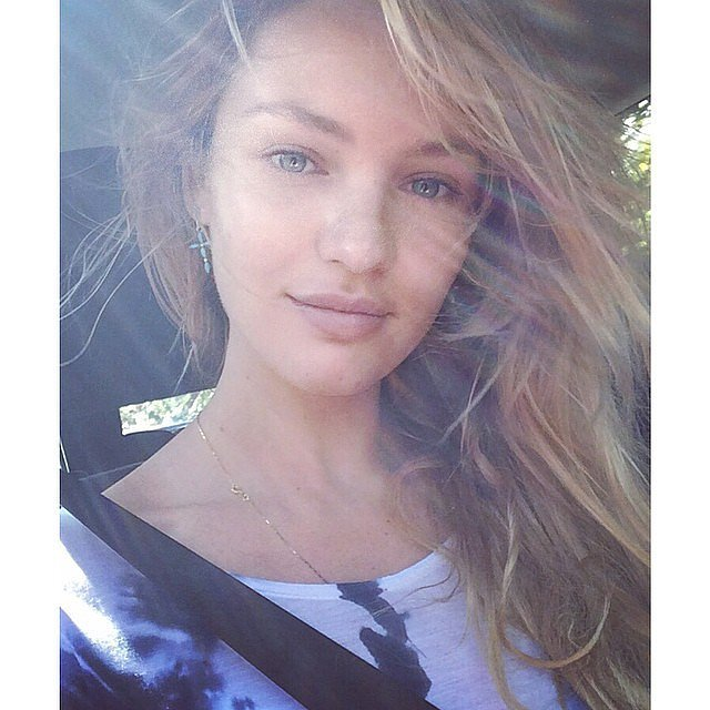 Candice Swanepoel Stunned Makeup Selfie
