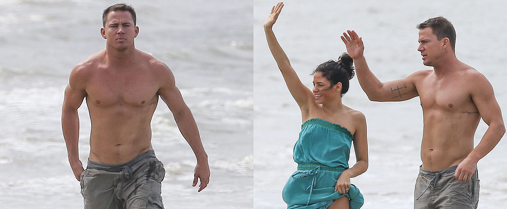 Channing Tatum Goes Shirtless For a Southern Beach Day With Jenna