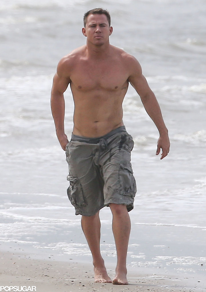Channing Tatum and Jenna Dewan Beach Pictures 2014 | POPSUGAR ...