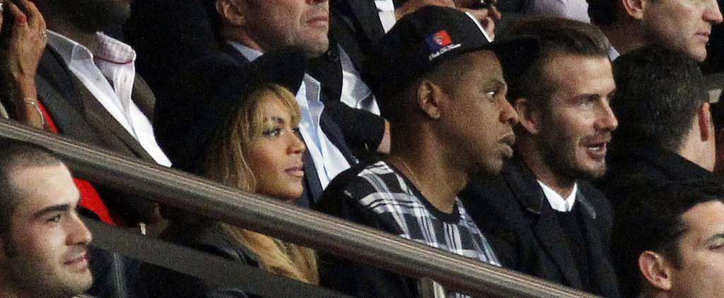 Beyoncé and Jay Z Join David Beckham For a Soccer Game