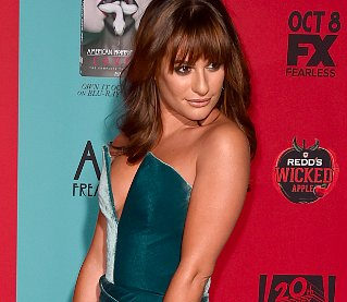 Lea Michele's Thigh-High Slit and Ring Finger Bling Turn Heads at Premiere (PHOTO)