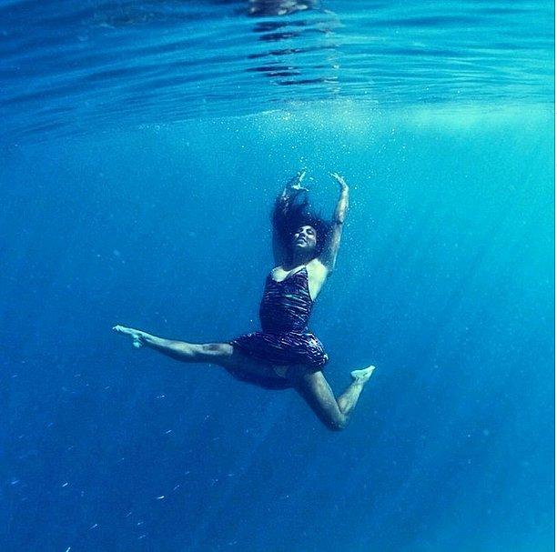 Underwater Yoga Instagram Photos Popsugar Fitness
