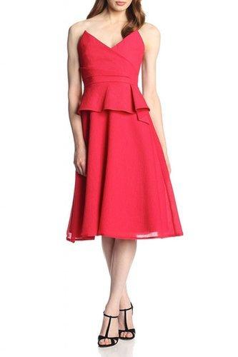 $188.00 BCBG GRACIE STRAPLESS PEPLUM SHORT DRESS