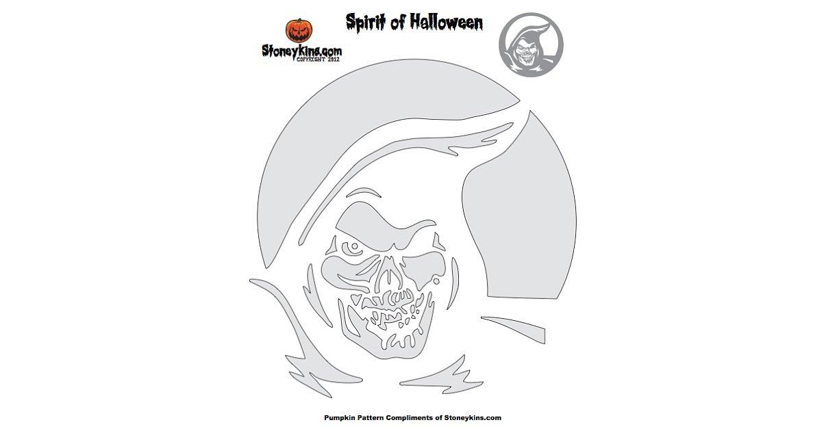 Grim Reaper Pumpkin Carving Patterns Grim Reaper Pumpkin Stencil