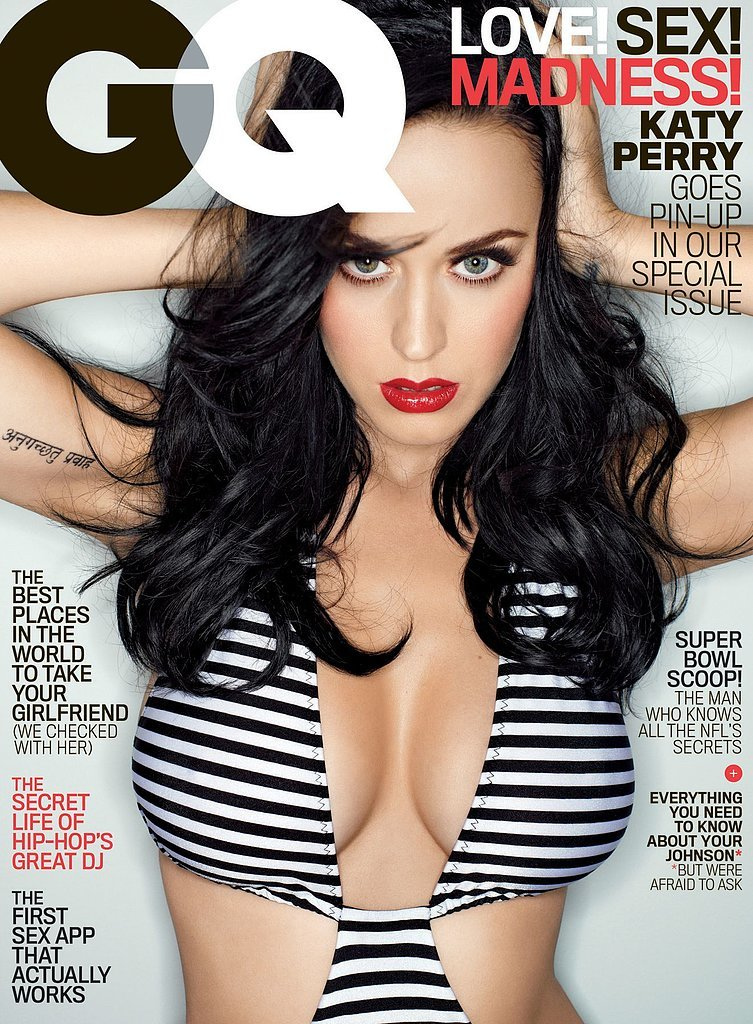 Katy Perry's cleavage was front and center on the cover of GQ in February 2014.
