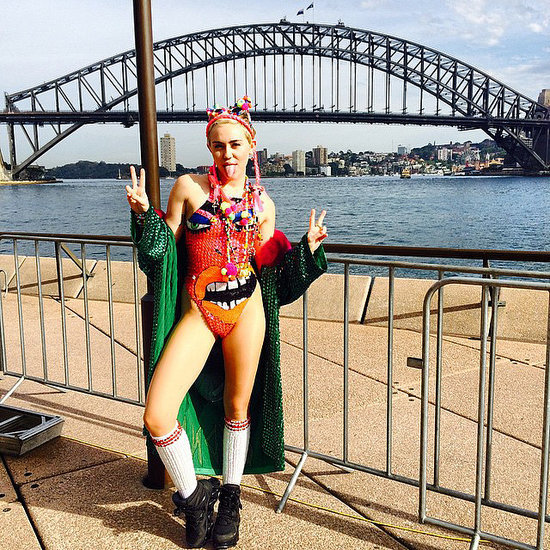 Miley Cyrus Pictures in Australia For Bangerz Tour