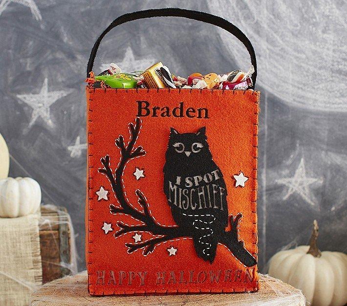 Pottery Barn Kids Owl Felt Tote