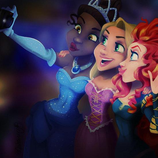 Even Disney Princesses Take Selfies