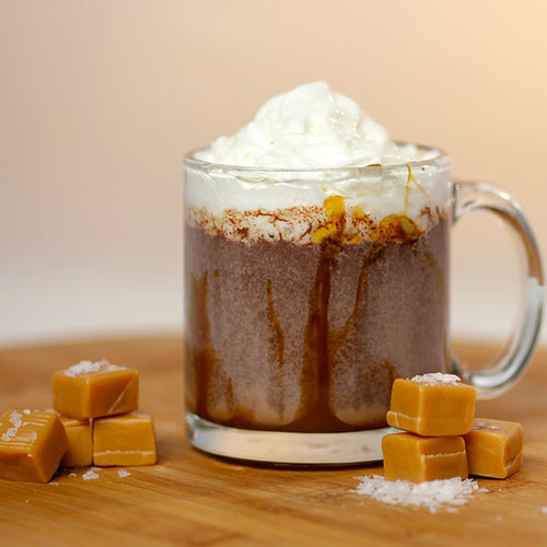 Salted Hot Chocolate Dunkin Donuts