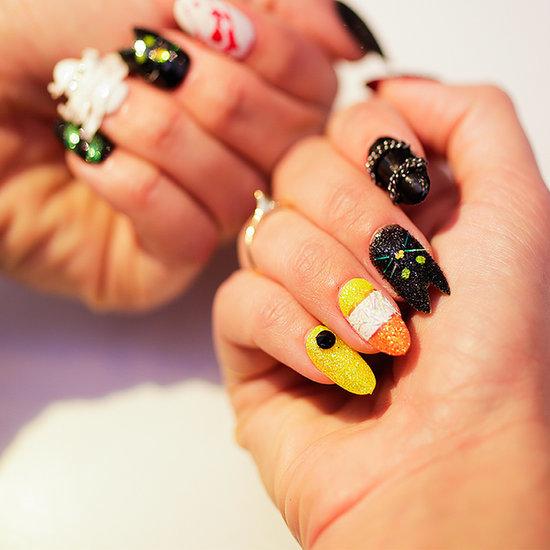 Black Cat Halloween Manicure